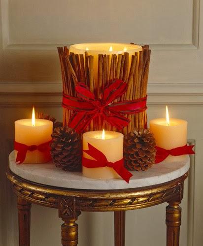 Multinotas centros de mesa navide os velas parte 1 for Decoracion hogar navidad 2014