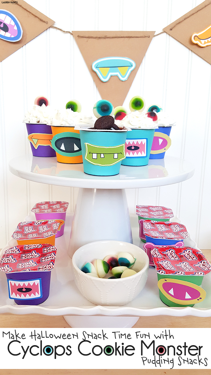 Go ahead and have a little bit of tasty fun in the spirit of Halloween! Make some adorable and affordable monsters for snack time with these free printables!