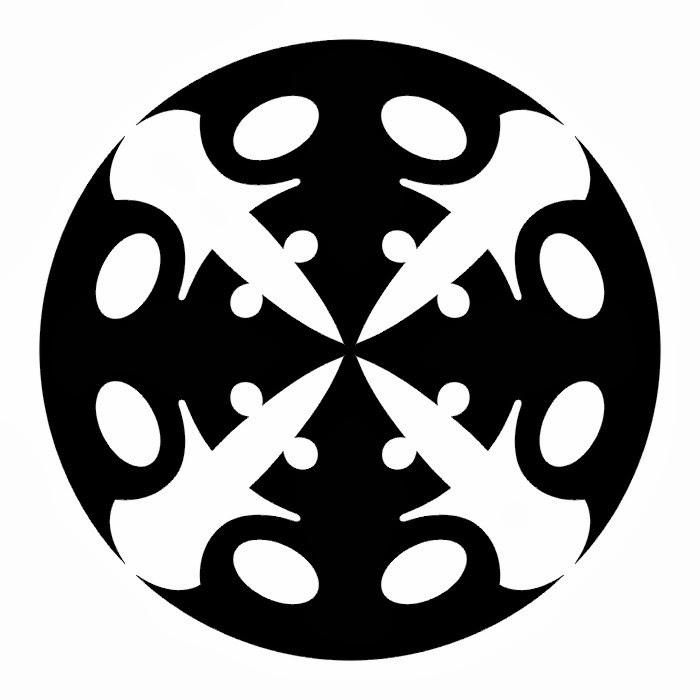 Tribal circle tattoo stencil