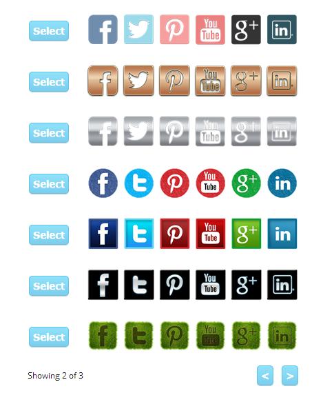 more social media icons