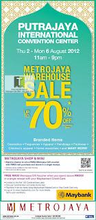 Metrojaya Warehouse Sale Putrajaya 2012