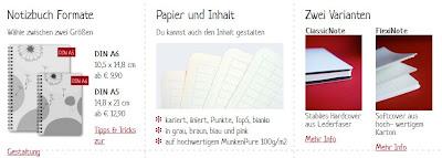 Produkte testen selbst gestalten lesen Notizbücher