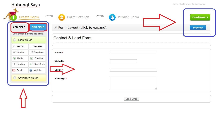 Cara Membuat Kontak Saya / Contact Me / Contact Us di Blogspot