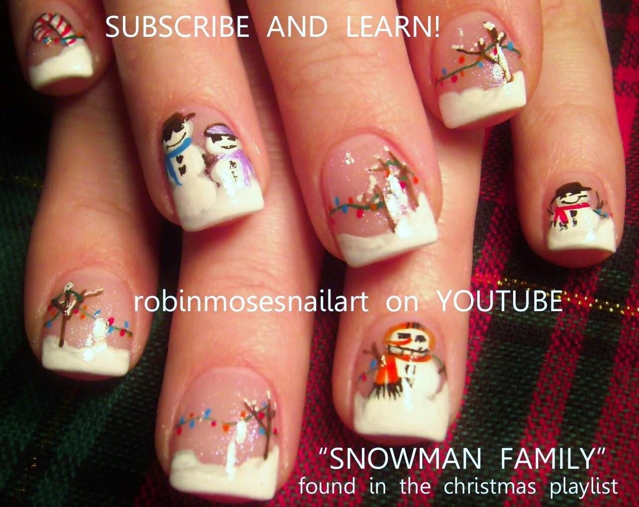 robin moses nail art quotsnowman nailsquot quotsnowman clip art
