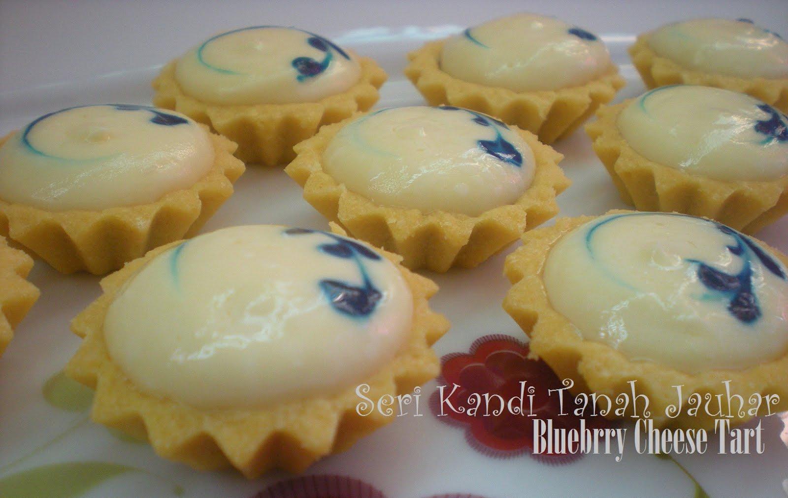 resepi blueberry cheese tart sukatan cawan
