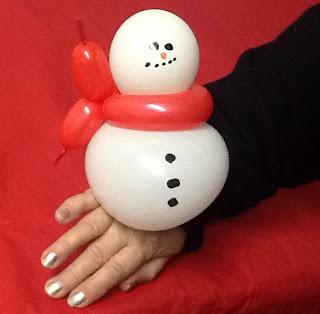 image balloon Snowman Wrist corsage