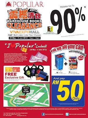 POPULAR Warehouse Books Clearance END 3 JUN