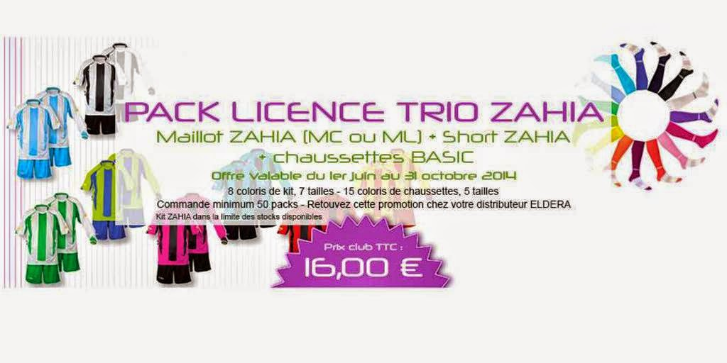 PACK TRIO ZAHIA = Kit ZAHIA (MC ou ML) + Chaussettes BASIC = 16 €