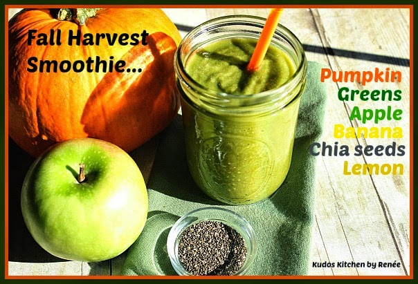 This Fall Harvest Smoothie is totally delicious and nutritious and it will keep you feeling full for hours.