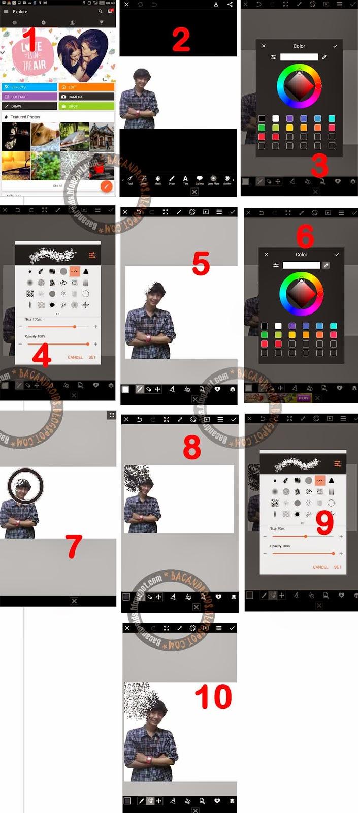 Tutorial Edit Foto dengan Teknik Brush menggunakan Picsart for Android