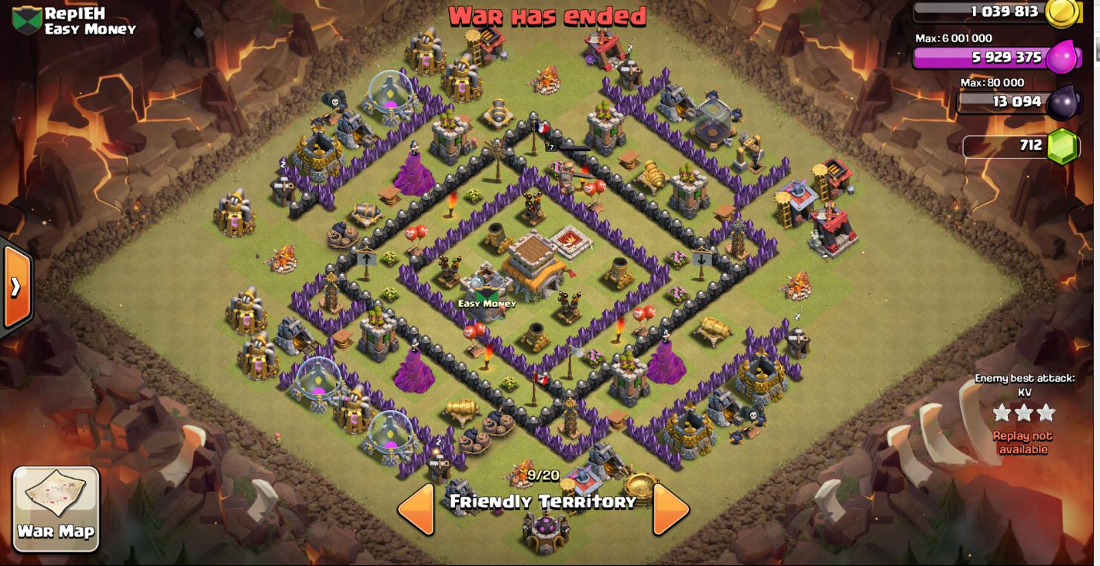 Base war terbaik th 8 anti hog dan dragon