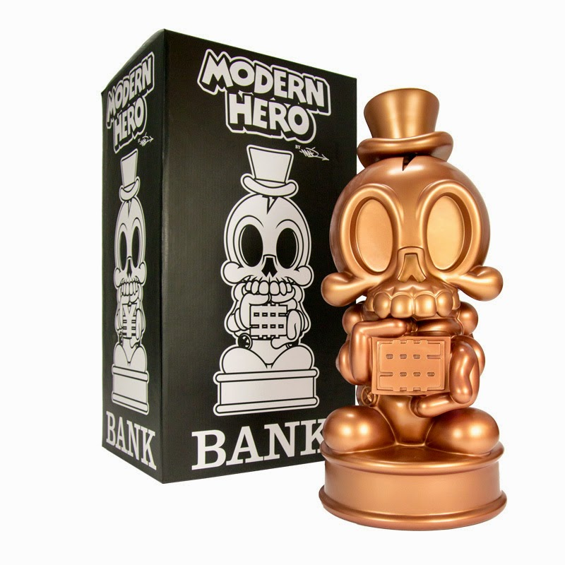 Copper Metallic Modern Hero Vinyl Bank by MAD