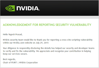 Cross Site Scripting Vulnerability in Nvidia.
