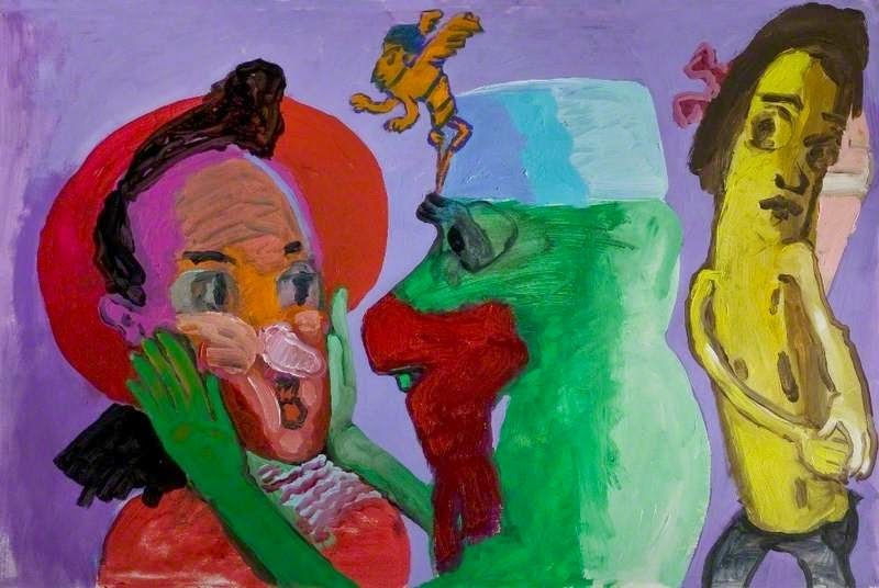 Paula Rego -Three Guchi Faces, Guchi Face with Banana