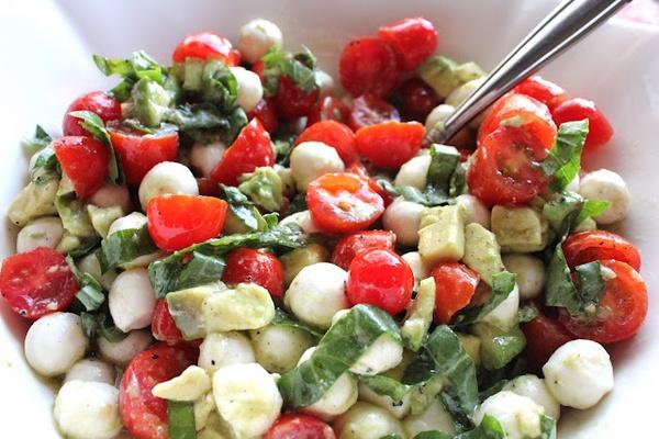 Riches to Rags* by Dori: Mozzarella, Tomato and Avocado Salad
