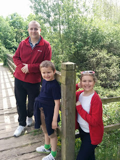 Daddy, Top Ender and Big Boy on a Bridge at Millennium Country Park in Marston Vale