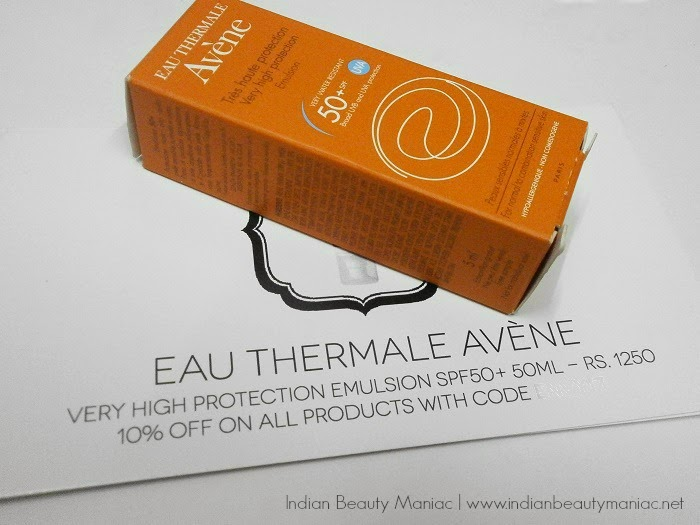 Eau Thermal Avene SPF 50 Sample review