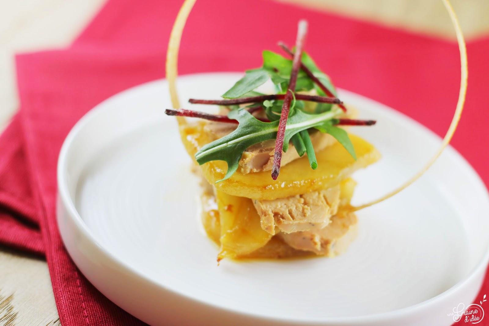Mille-feuille de Foie Gras et Poire au Miel - Une Graine d'Idée
