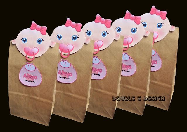 Déco De Chambre A Coucher Adulte : Double ED Baby Shower Deco Paperbag
