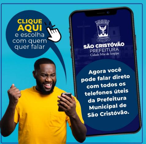 CANAL DIRETO DA PREFEITURA MUNICIPAL DE SÃO CRISTÓVÃO