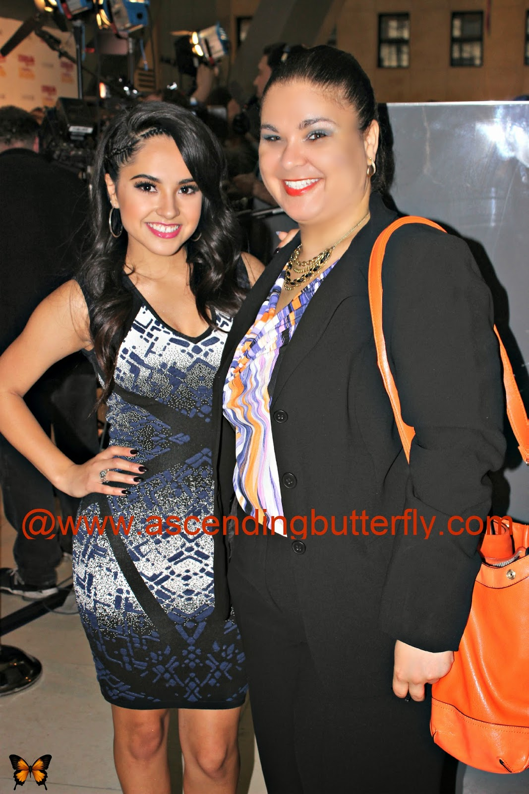 Blogger Ascending Butterfly meets singer Becky G at Cosmopolitan for Latinas Fun Fearless Awards 2014 in New York City