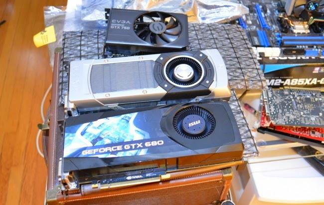 Placas Nvidia utilizadas no teste