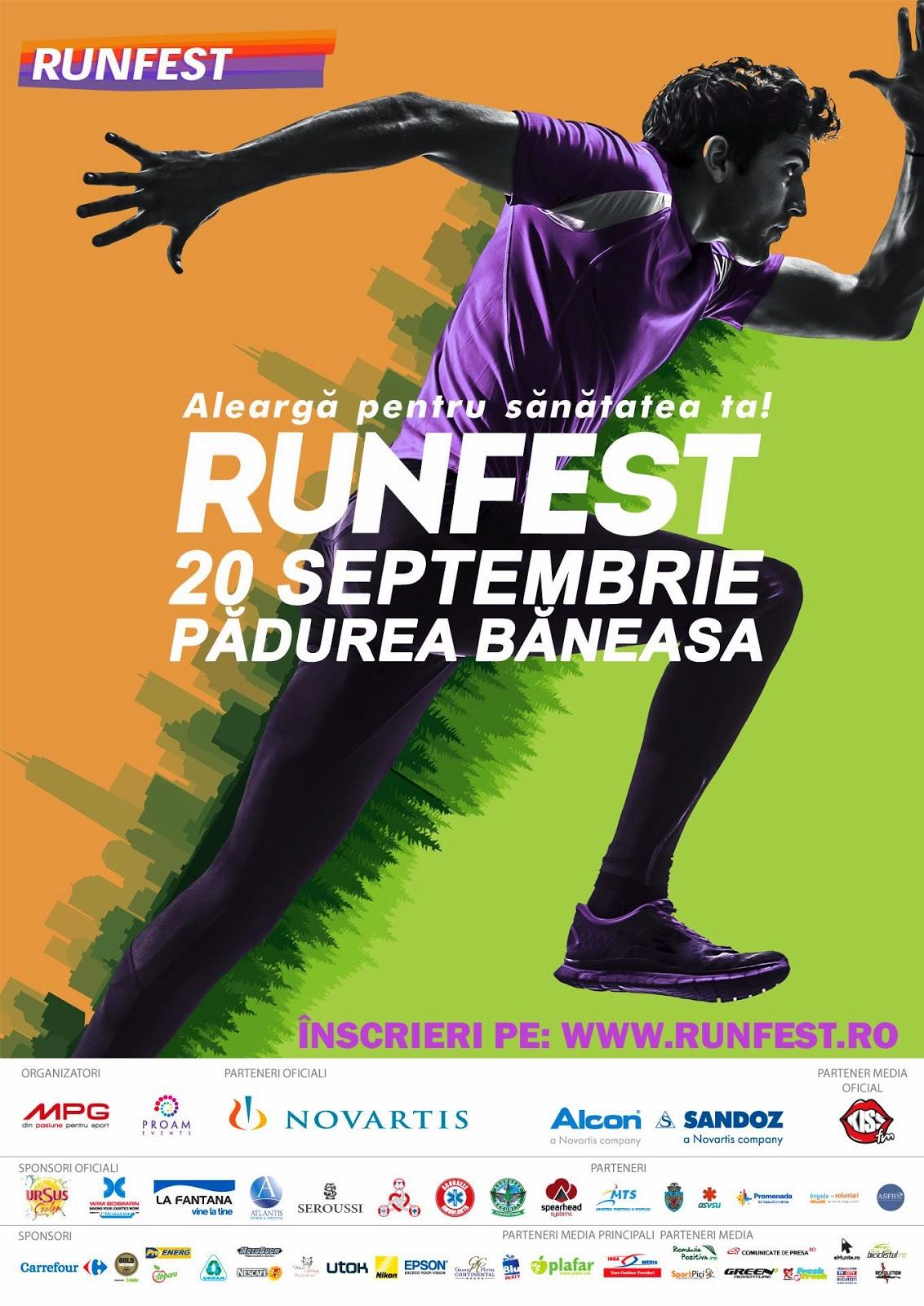 Invitaţie la RUNFEST, eveniment de alergare în natură. 20 Septembrie 2014, Pădurea Băneasa, Bucureşti