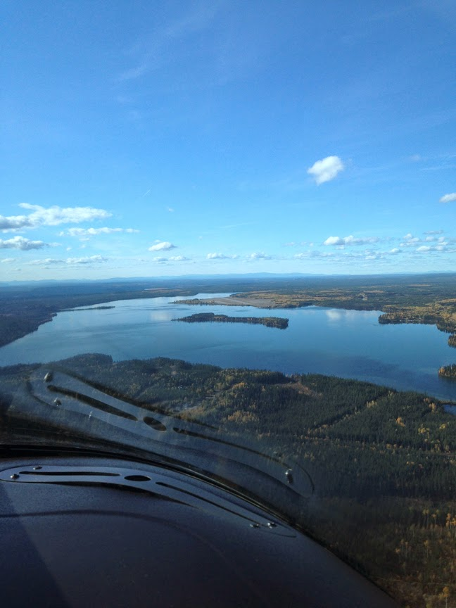 The view over Watson Lake in Yukon Territory during Ash's week-long aviation road trip. (Photo by Ash Burrill)