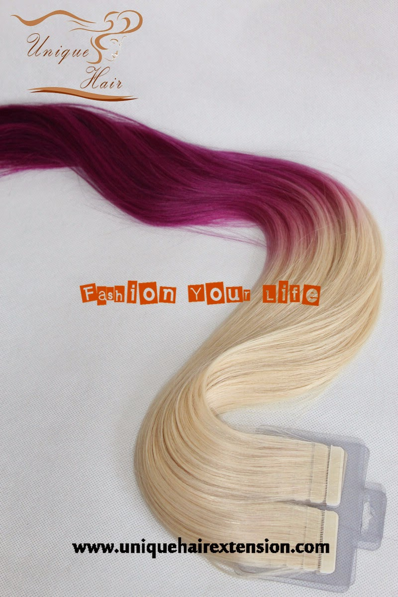 balayage color tape hair extensions