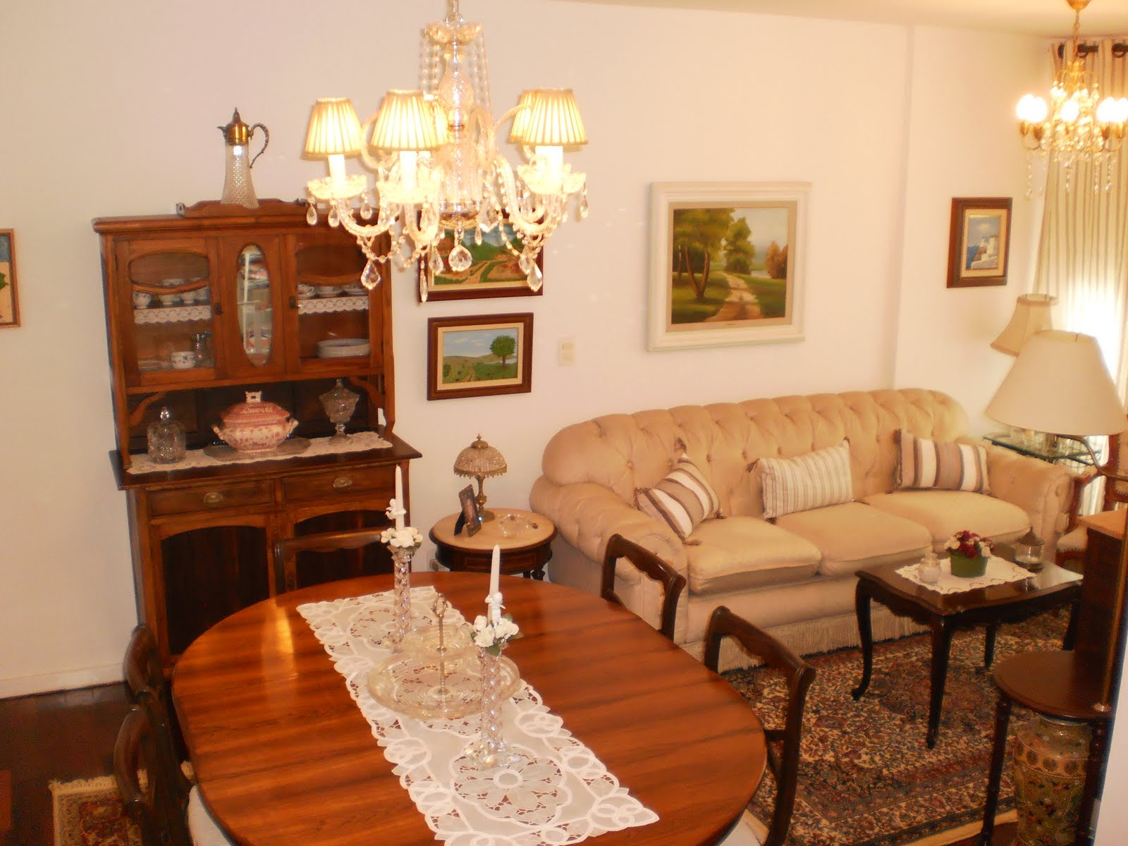 Decorando minha casa: Minha sala de estar e de jantar #C37A08 1600x1200
