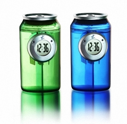 02-H2O-Water-Powered-Can-Clock