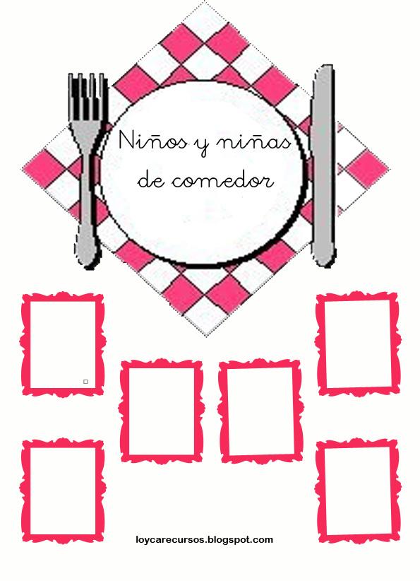 Recursos de educaci n infantil carteles de comedor escolar for Proyecto educativo de comedor escolar