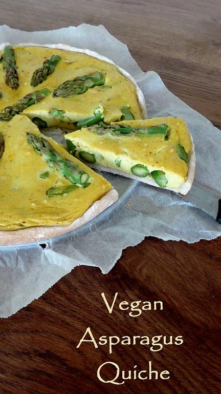Vegane Spargel Quiche