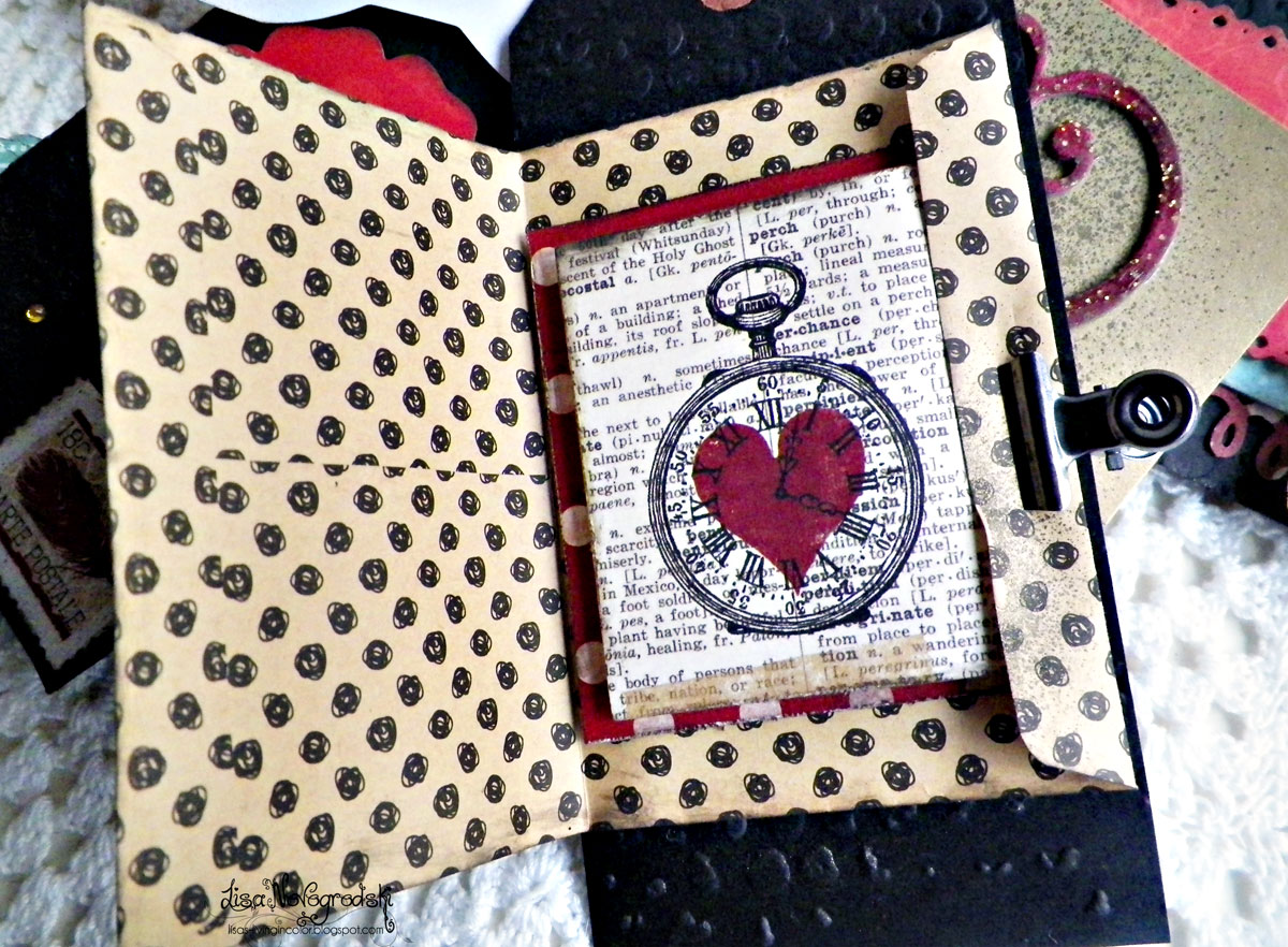 Tag Mini Album Inside Envelope by Lisa Novogrodski using Star Crossed Collection for BoBunny