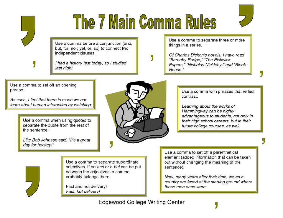rules in writing an essay