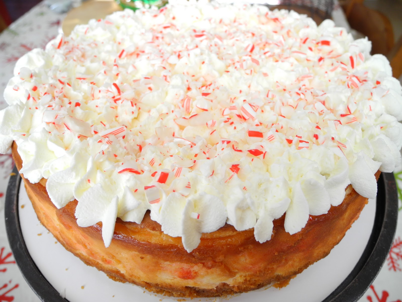 White Chocolate Candy Cane Cheesecake - From Calculu∫ to Cupcake∫