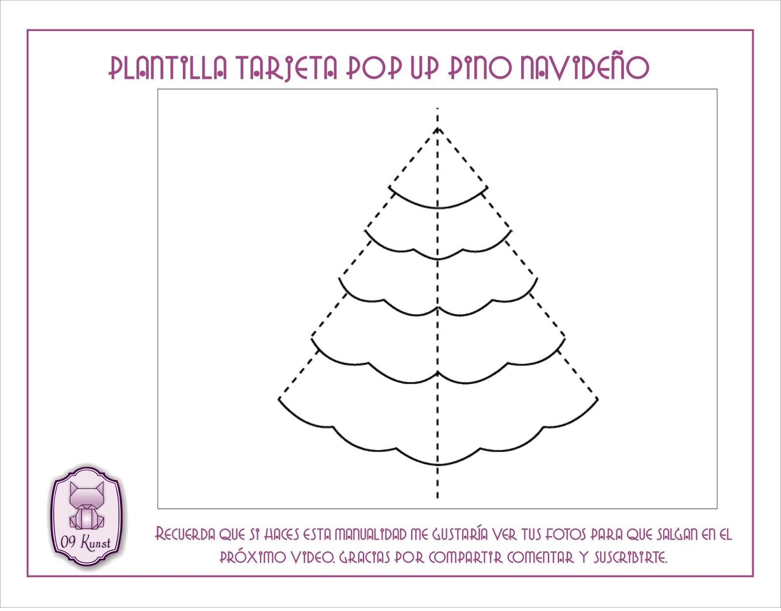 Tarjeta pop up navideña | fácil y rápido
