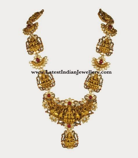 Gold Ashta Lakshmi Haram