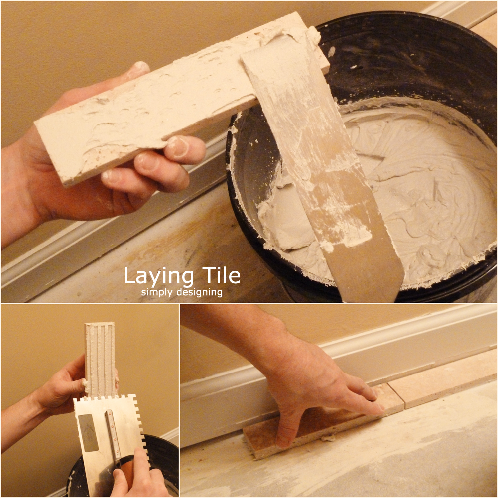 How to lay tile