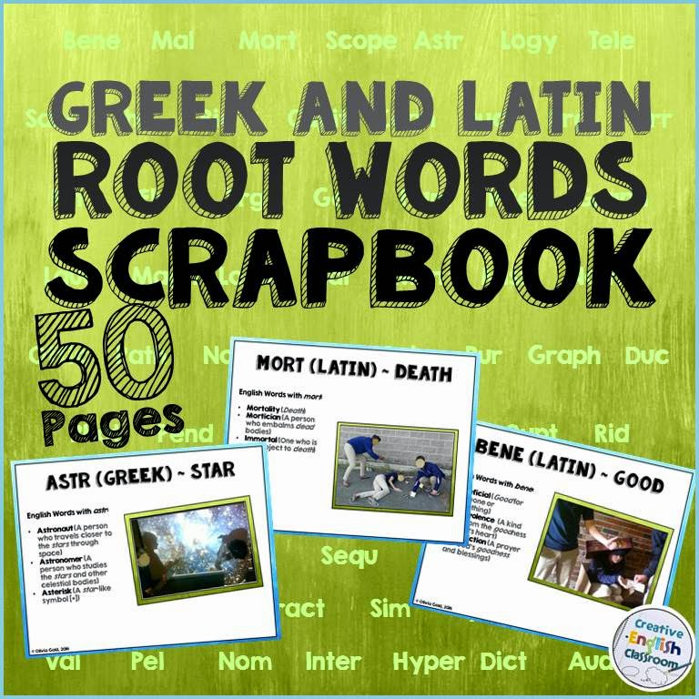 Teach Greek and Latin roots with fun photo shoots your students will remember!