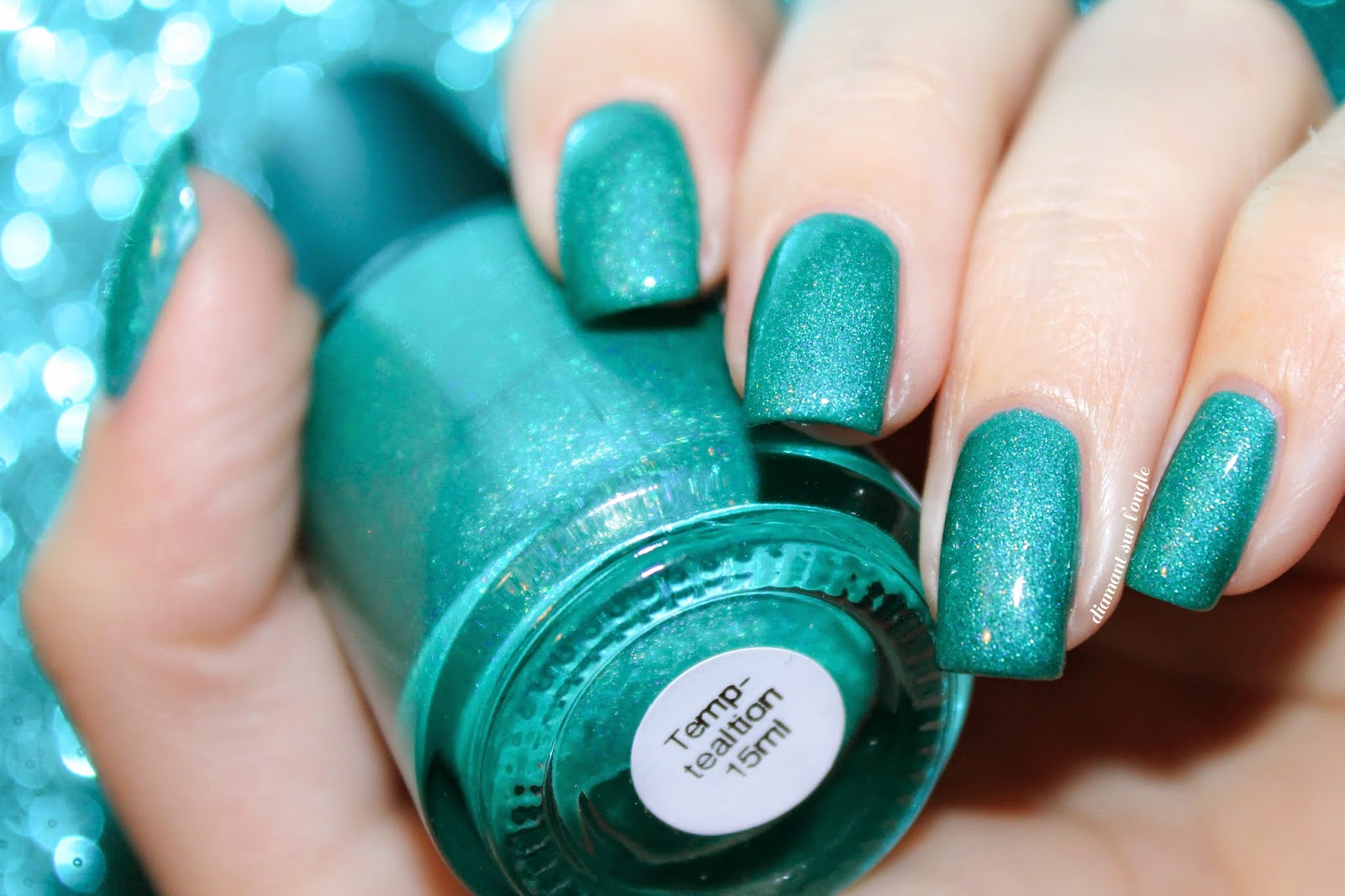 Swatch of Temp-tealtion from Lilypad Lacquer
