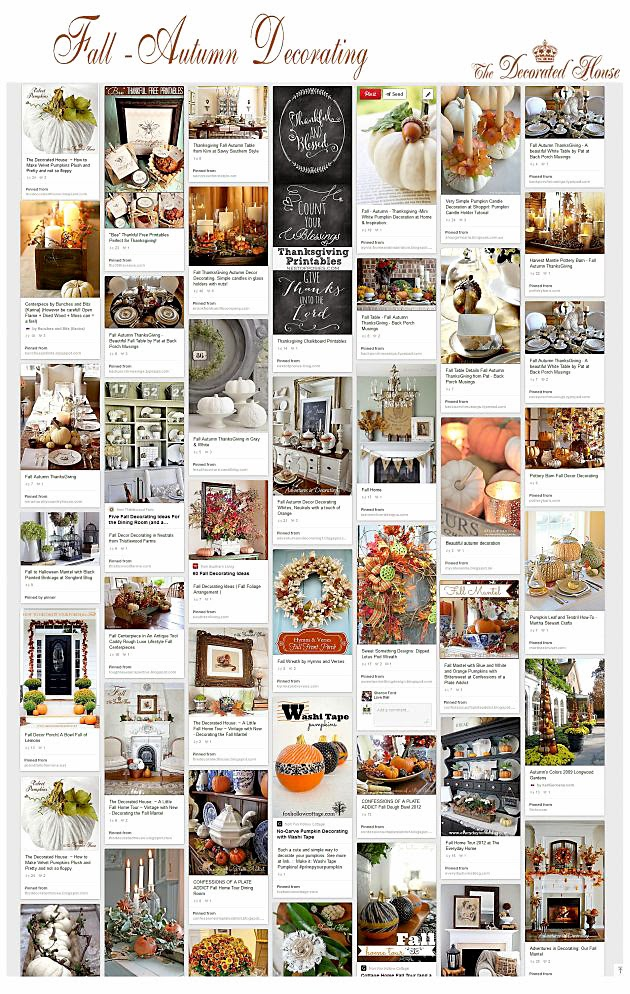 The Decorated House ~ 50 + Fabulous Fall  Autumn  ~ 233449_Thanksgiving Decorations Nz