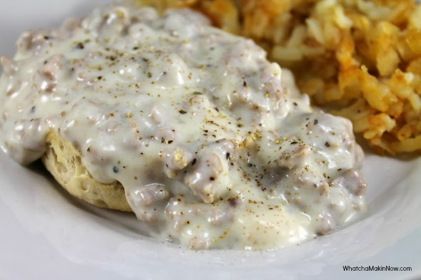 The Best Biscuits and Gravy, Ever - Make the gravy in the same pan you cook the sausage!