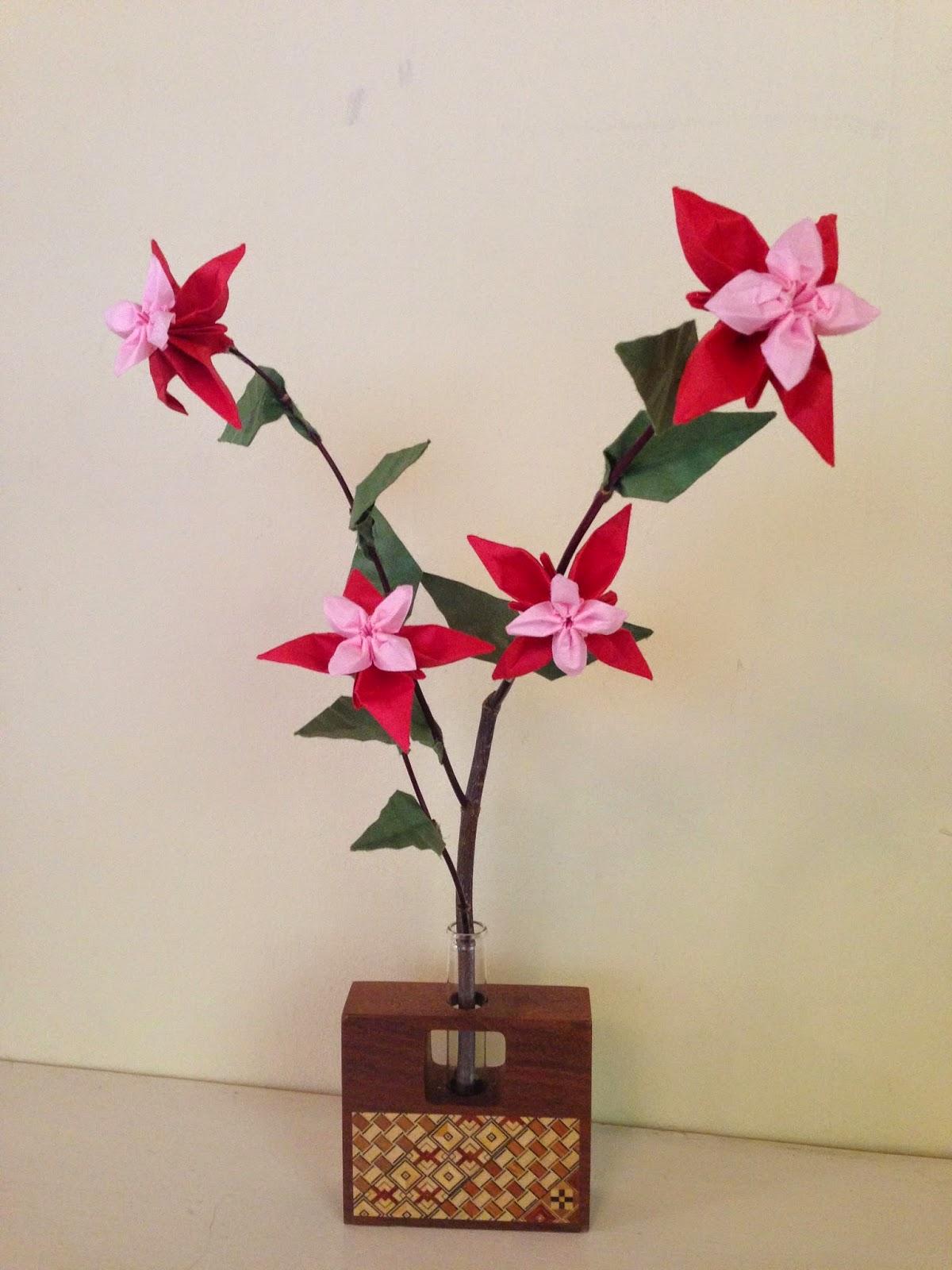 Yuki39s Origami Blog Review Origami Ikebana By Benjamin John Coleman