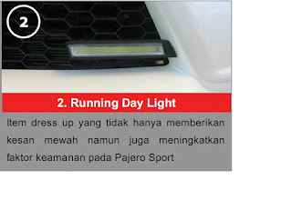 Running Day Light Pajero Limited