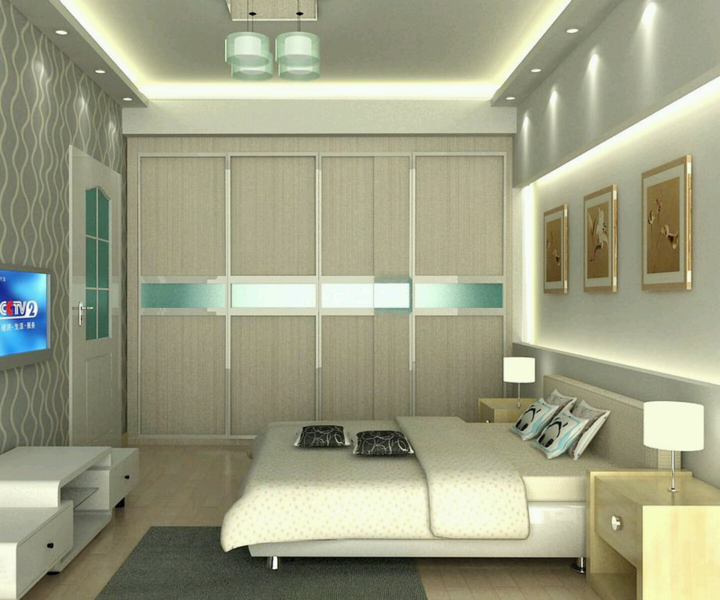 New home designs latest modern homes bedrooms designs for 3 bedroom design ideas