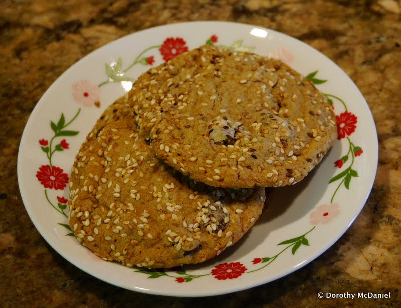 ... Take Over My World: Salty Sesame and Dark Chocolate Chip Cookies