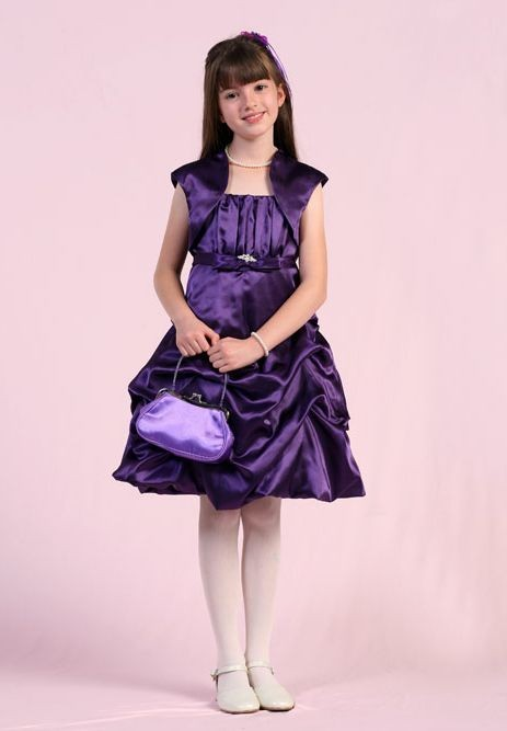 cute junior bridesmaid dresses in purple
