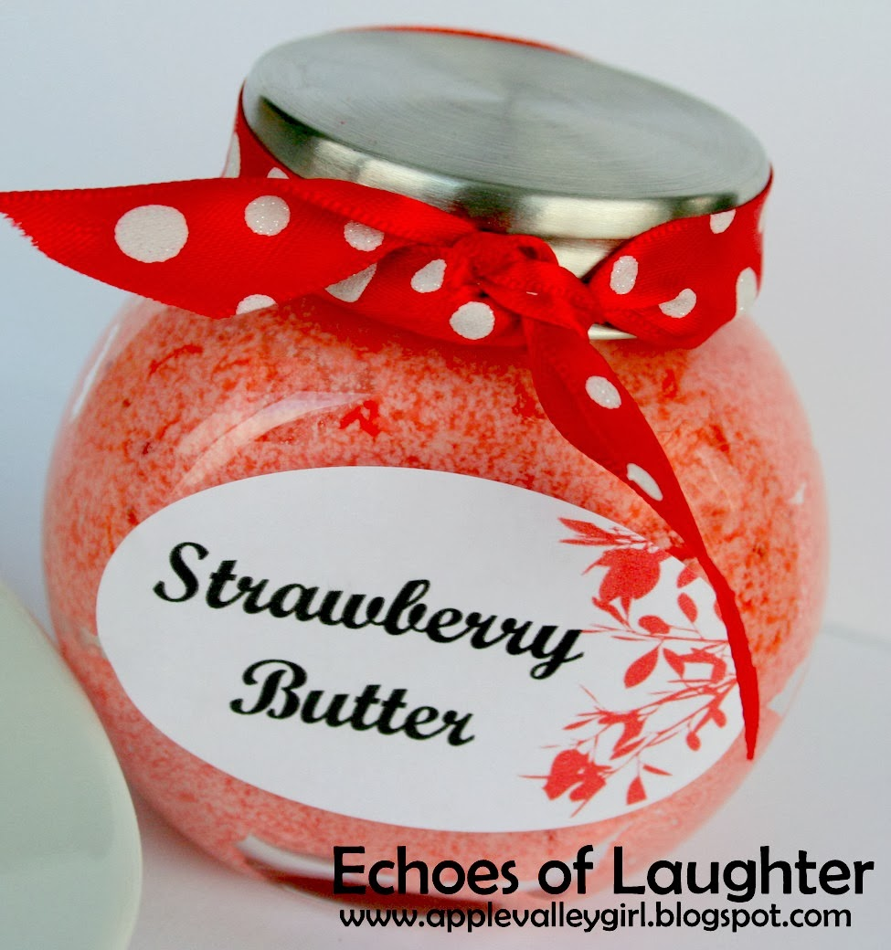 Christmas Gift Idea-Easy Strawberry Butter