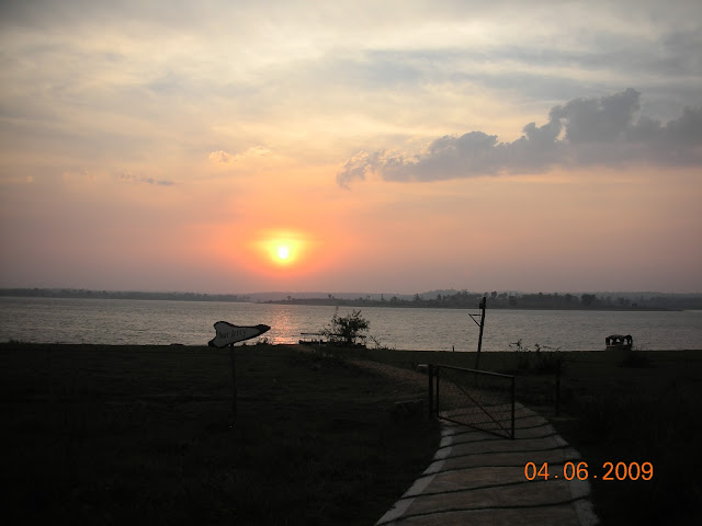 Sunset over Kabini river